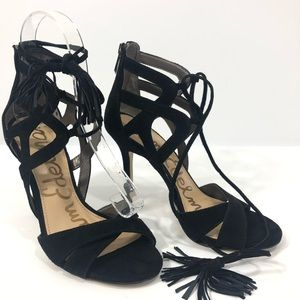 Sam Edelman Black Suede Azela Heeled Shoes